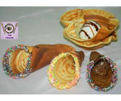 Food Connection --  Eggless Ice Cream Waffle Cone   Cone Without waffle machine