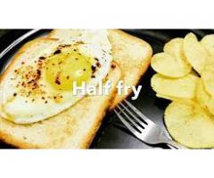 Meenu's Cookbook --- Egg half Fry