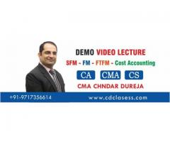 Video Classes for CA,CS,CMA INTER & FINAL-SFM,FTFM,FM,COST ACCOUNTS
