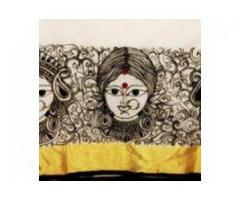 Hand Painted mural sarees..