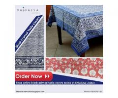 Block Printed Table Covers | shivalayajaipur.com