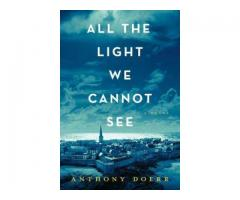 Book Mark ----- ALL THE LIGHT WE CANNOT SEE by Anthony Doerr