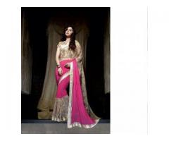 Exciting offer on embroidered pallu sarees