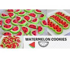 Food Connection --  Watermelon Cookies | Crispy & Buttery | Perfect For Beginners | Recipe From