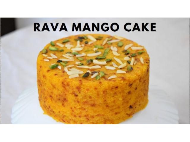 Food Connection -- Rava Suji Semolina Mango Cooker Cake| Soft Cake |आम सूजी कुकर केक