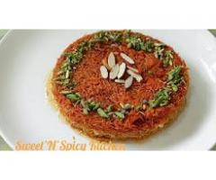 Sweet'N'Spicy Kitchen ---- Kunafa Dessert