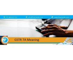 gstr 7a meaning