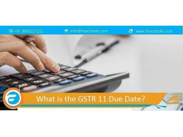 What is the GSTR 11 due date?